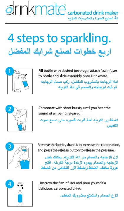 Image of Instructions on using the DrinkMate Soda Maker