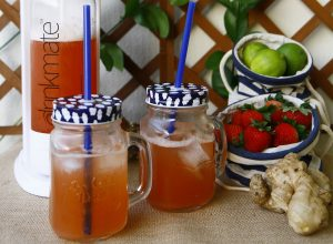 Strawberry-Lime Ginger Ale - home made soda recipe