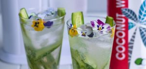 bubble bro - header picture of cucumber gimlet mocktail