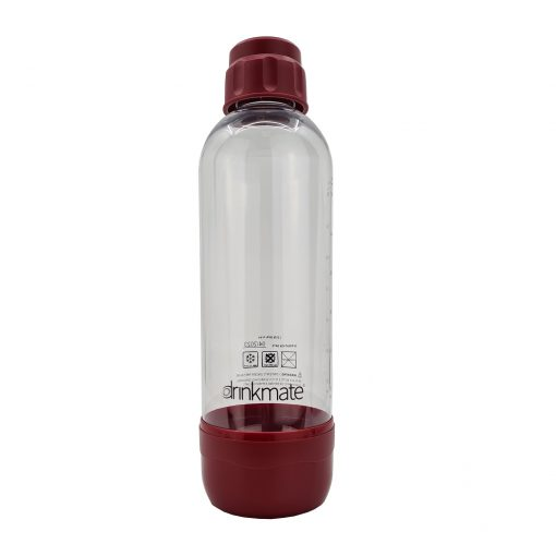 bubble-bro - picture of red large Drinkmate bottle with cap on