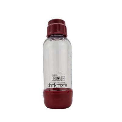 bubble-bro - picture of red small Drinkmate bottle with cap on