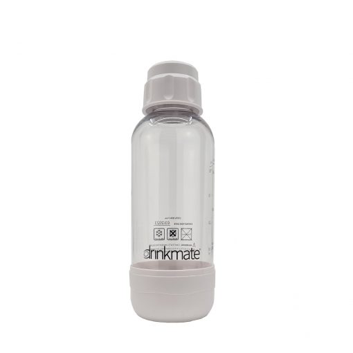 bubble-bro - picture of white small Drinkmate bottle with cap on