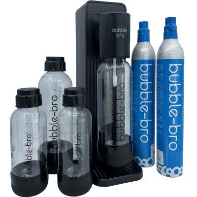 bubble-bro Origin Sparkling Water Maker Family Pack - Black
