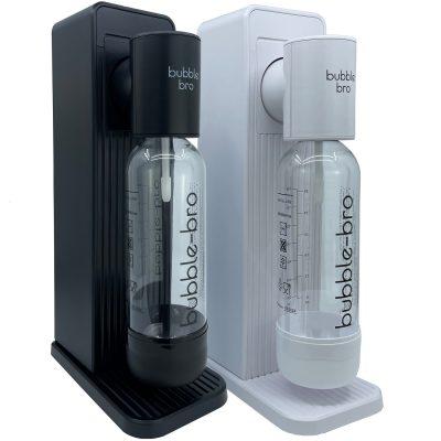 bubble-bro Origin Sparkling Water Maker in white and black