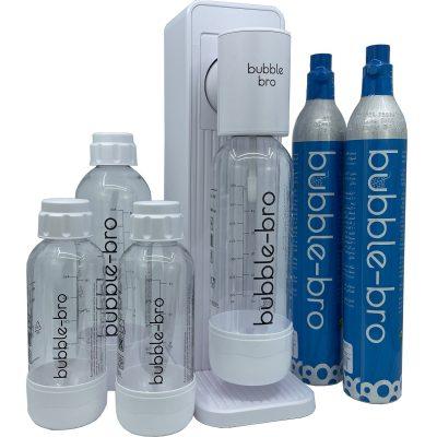 bubble-bro Origin Sparkling Water Maker Family Pack - White